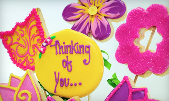The Cookie Messenger - Vaughan: Nine-Cookie Mixed Floral Bouquet or $20 for $40 Worth of Cookie Bouquets from The Cookie Messenger (Up to 52% Off)