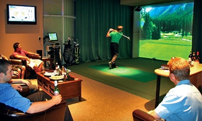 Tee Times Indoor Golf - Vaughan: $45 for Two Hours of Indoor Virtual Golf and Equipment Rental for Two at Tee Times Indoor Golf in Vaughan (Up to $146.90 Value)