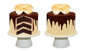 The Classic Cupcake Co.: 3-Layer Chocolate Mud Cake - Four ($22), Eight ($42) or Ten-Inch ($69) from The Classic Cupcake Co (Up to $150 Value)