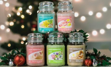 Pack de 5 velas perfumadas en jarra grande Yankee Candle