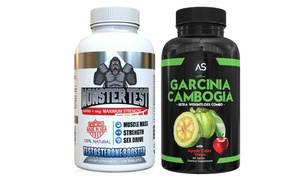 Garcinia Cambogia and Monster Test Booster Supplement Bundle (2-Pack)