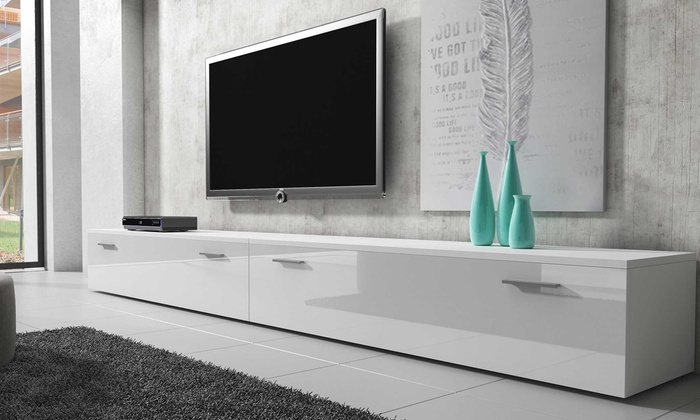 Design Hoogglans Tv Meubel.Tv Dressoir Met Hoogglans Front Groupon