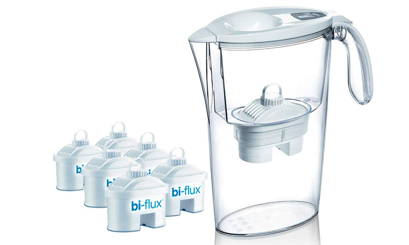 Laica Water Purifying Jug with Six Bi-Flux Filters