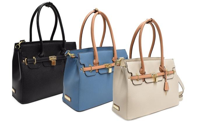 1fbb66de48 Adrienne Vittadini Kelly Collection Pebble Grain Birkin Bag
