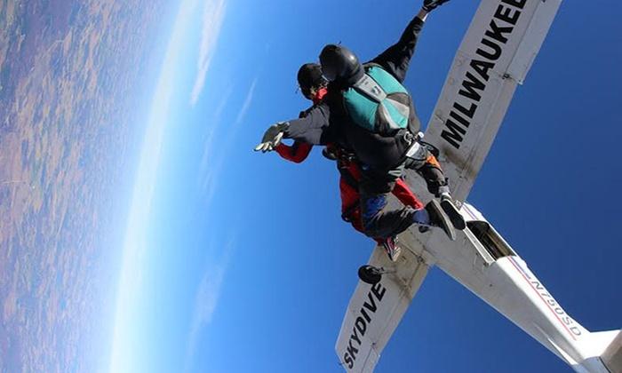 Skydive Milwaukee - Kettle Moraine Estates: $149 for a Tandem Skydive from Skydive Milwaukee ($229 Value)