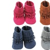 Girls' Triple Fringe Suede Boots