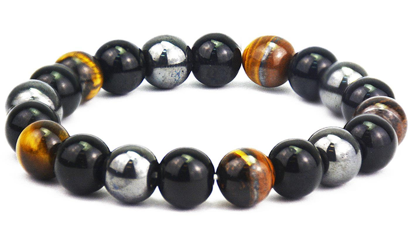 One, Two or Four Vivo Black Magnetic Hematite Bracelets