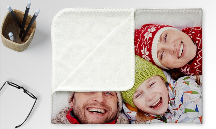 Up To 94 Off Custom Printed Fleece Photo Blankets
