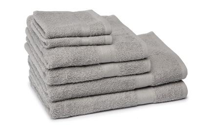 Set van 6 katoenen badhanddoeken