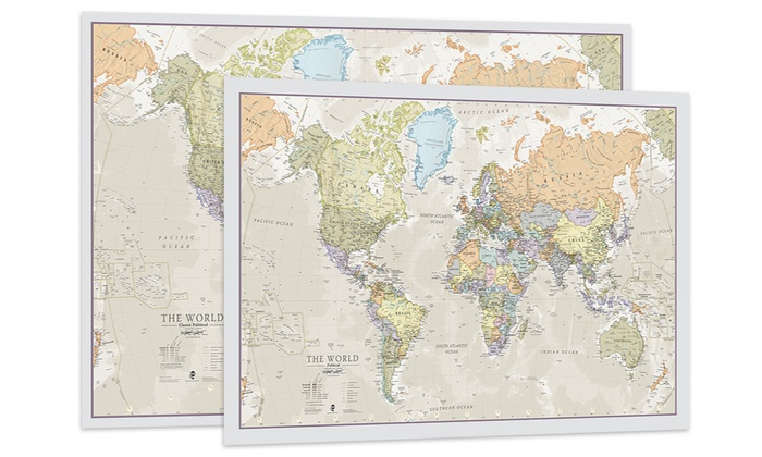 World Map Poster | Groupon Goods