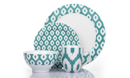 16-Piece Ikat Dinner Set