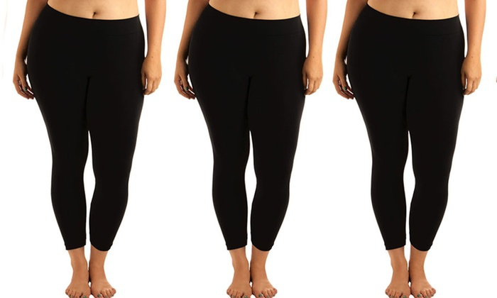 ba33afd6238 Women s Cotton Plus-Size Leggings (3-Pack)