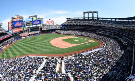 New York Mets Game at Citi Field. Multiple Games and Promotions, Including Magnetic Card, Mr. Met Dash, and Shirt.