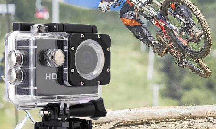 """ג.ק.ע השקעות ויזום בע""""מ - Merchandising (IL): מצלמת וידאו FULL HD לצילומי ספורט ואקסטרים עם צג מגע אחורי ותפריט בעברית"""