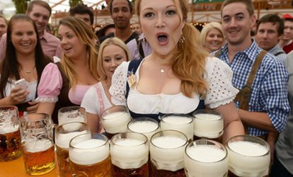 image for German Bierfest, Entry Ticket with Meal and Beer for Two, 27 April - 10 June, Six Locations (Up to 50% Off)