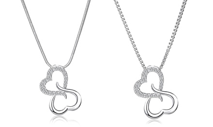 Swarovski Elements Intertwined Hearts Forever Pendant