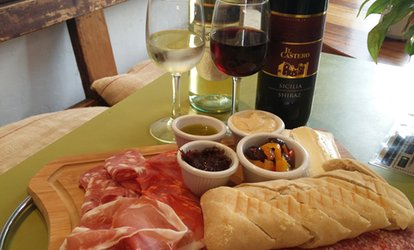 image for One Charcuterie Platter with Wine for Two, or Two Platters with Wine for Four at Mojo Coffee House (Up to 50% Off)