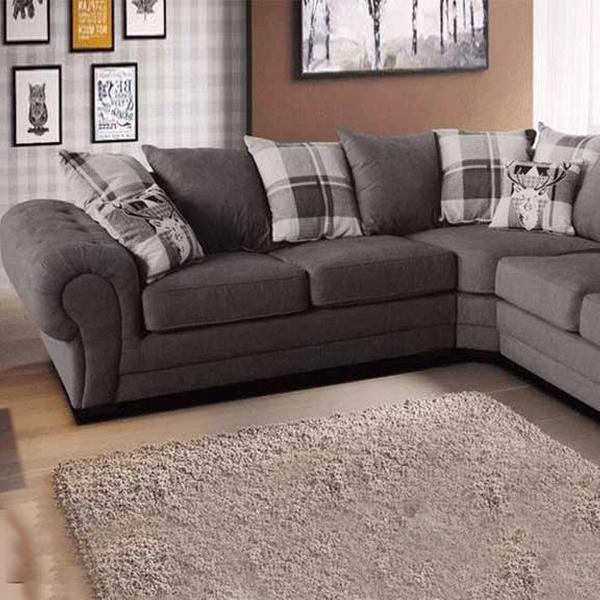 Fabric Chesterfield Corner Sofa