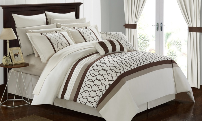 Up To 80% Off on Bedroom-in-a-Bag Set (24-Piece)   Groupon Goods