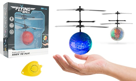 One, Two or Four Doodle LED Flying Helicopter Ball Toys with Remote Control