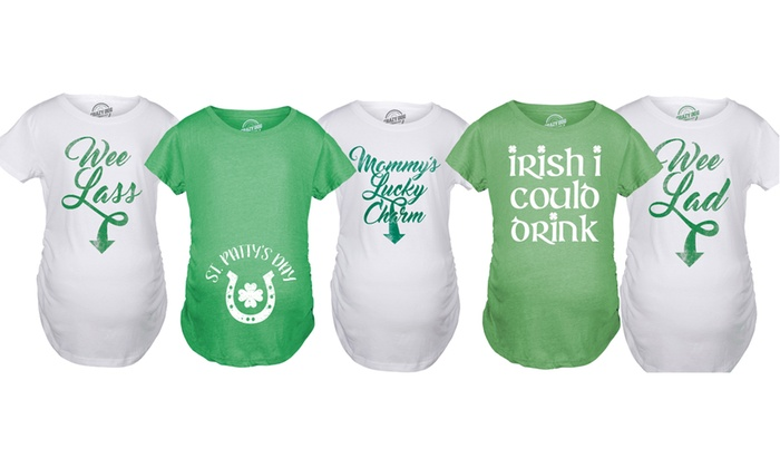 d5c74b27 Up To 14% Off on St. Patrick's Day Maternity Tee | Groupon Goods