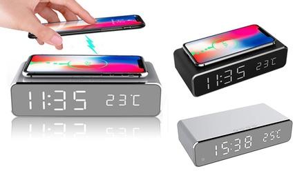1 o 2 relojes despertadores con cargador de teléfono inalámbrico