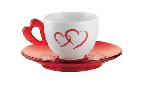 Set di 6 tazzine da caffè in porcellana Love Made in Italy Guzzini
