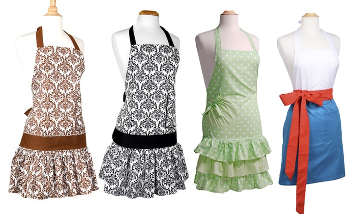 Up To 54% Off On Womenu0027s Kitchen Aprons | Groupon Goods