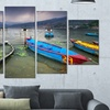 "Gallery-Wrapped Boat Canvas Art Print 60""x32"" (5-Panels)"