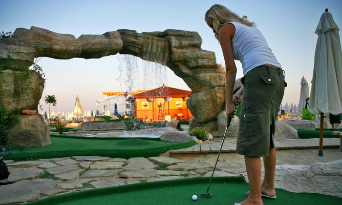 Paradise Mini Golf - Middleton: Round of Mini Golf with Small Ice Creams for Two or Four at Paradise Mini Golf (Up to 44% Off)