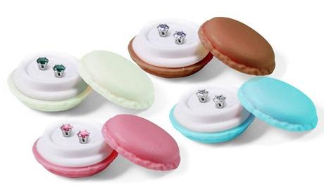 Orecchini con scatola macarons e cristallo di Swarovski®
