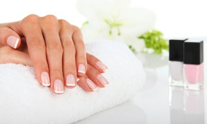 Always Perfection: Two Manicures with Sugar or Salt Scrub or One Shellac Manicure at Always Perfection (Up to 50% Off)