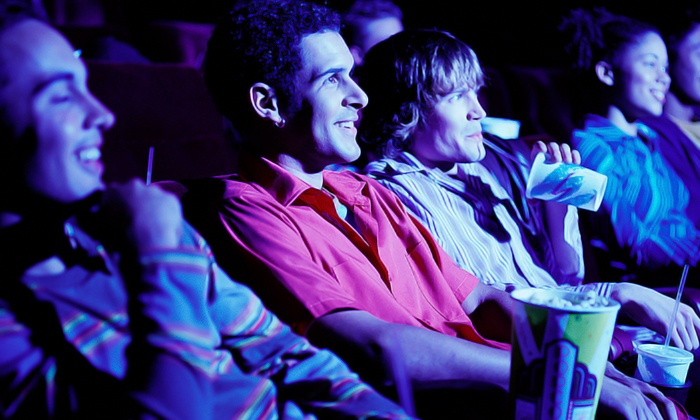 Movie World Cinemas - Douglaston Little Neck: Movie Outing with Popcorn and Soft Drinks for One, Two, or Four at Movie World Cinemas (Up to 45% Off)