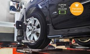 JPS Centro Automotivo: JPS Centro Automotivo – Irajá: alinhamento, balanceamento, cambagem, rodízio e revisão (com opção de óleo e A/C)