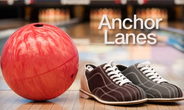 Anchor Lanes - Northwest Columbia: $5 for Two Games of Bowling and One Pair of Rental Shoes at Anchor Lanes (Up to $12 Value)