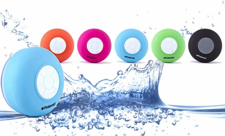 Polaroid Waterproof Bluetooth Shower Speaker with Microphone. Multiple Colors Available. Free Returns.