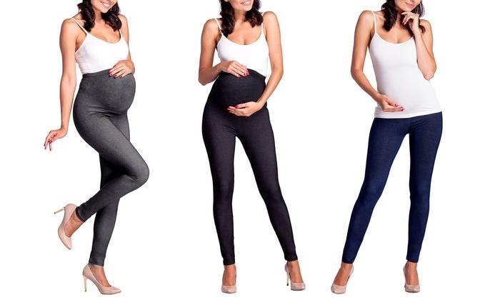 Groupon Goods Global GmbH: Maternity Denim-Look Leggings