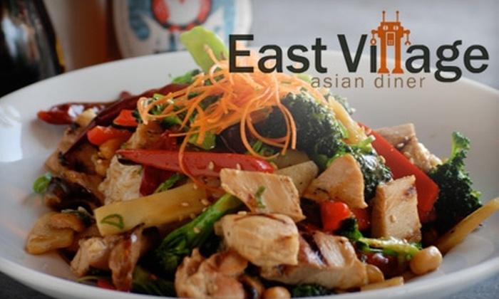 East Village Asian Diner - Encinitas: $7 for $15 Worth of Pan-Asian Eats at East Village Asian Diner in Encinitas
