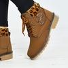 Damen-Boots mit Animalprint