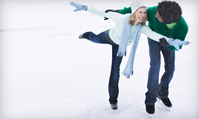 Ice Town - Ice Town: $12 for Open-Skate Admission with Skate Rental for Two at Ice Town in Riverside (Up to $26 Value)