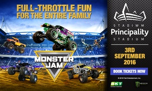 Monster Jam: Entry to Monster Jam at Cardiff Principality Stadium on Saturday, 3 September