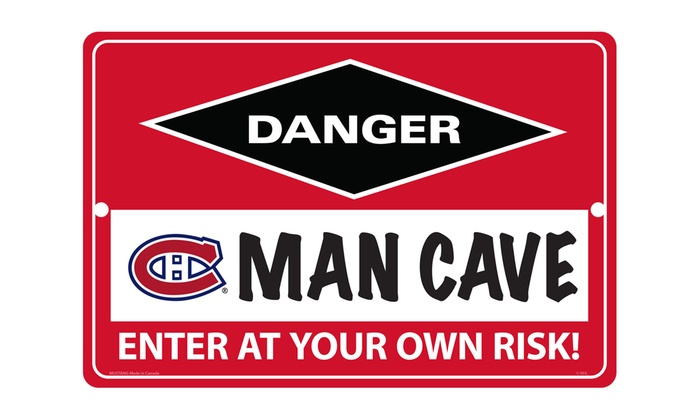 Man Cave Signs Canada : Nhl quot x man cave sign groupon