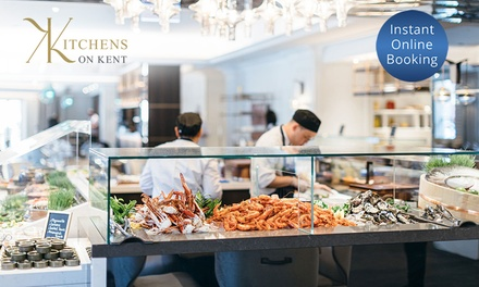 AYCE Seafood Buffet: Lunch for 2 ($89) or 4 ($178), Dinner for 2 ($129) or 4 Ppl ($258) at Kitchens On Kent The Langham
