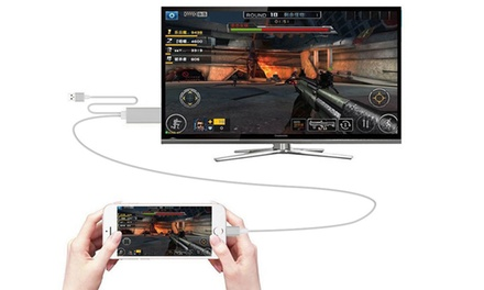 1 o 2 cables HDMI para smartphone con cable de nylon trenzado