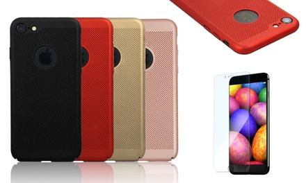 Beschermhoes met gehard glas voor iPhone 6/6S, 6 Plus/6S Plus, 7/8, 7 Plus/8 Plus en X