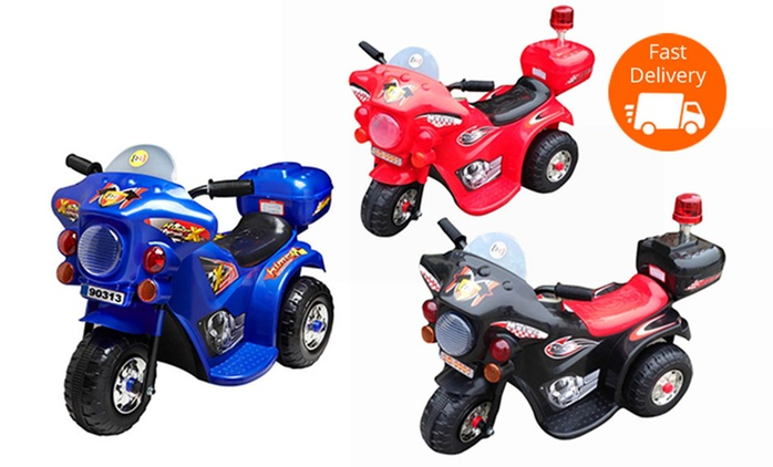 $59 for a Kids' Highway Patrol Ride-On 6v Motorcycle (Don't Pay $129.95)