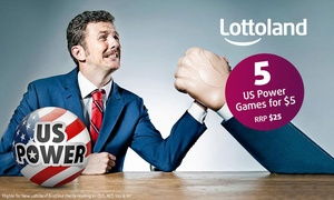 Lottoland: $5 for 5 US Power Line Bets (Don't Pay $25)