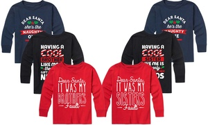 Kids' Long-Sleeved Brother or Sister Christmas Tee