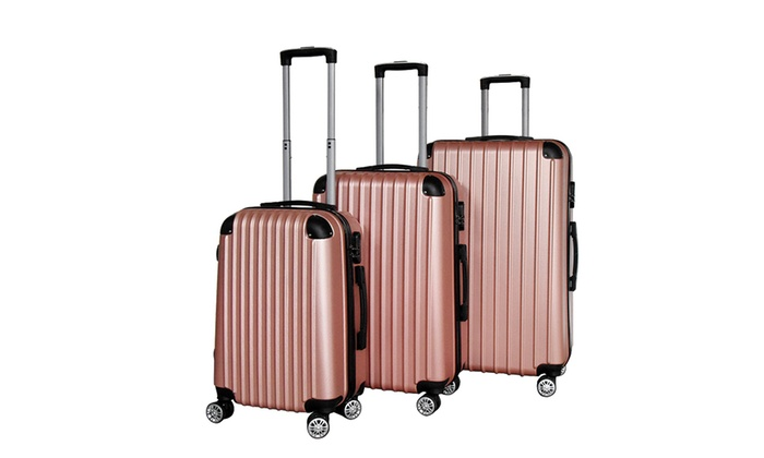 Lot De 3 Valises Abs Groupon