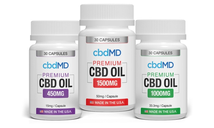 CBD Capsules from CBDMD (30-Count) | Groupon